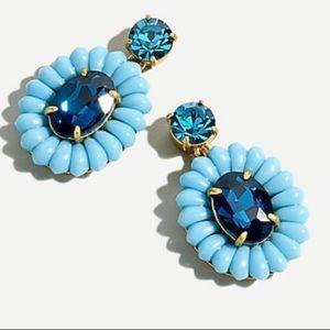 J.crew blue stud earrings